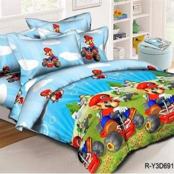 Подростковое постельное белье ранфорс Супер Марио