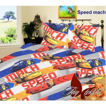 Подростковое постельное белье ранфорс с машинками Тачки Молния Маквин