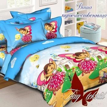 Детское постельное белье для девочки ранфорс Даша-путешественница