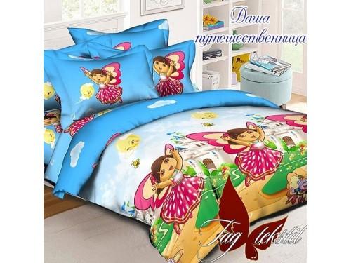 Детское постельное белье для девочки ранфорс Даша-путешественница 0928 от TAG tekstil в интернет-магазине PannaTeks