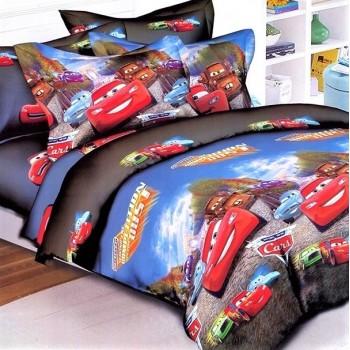 Подростковое постельное белье ранфорс с Тачками
