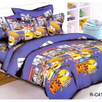 Подростковое постельное белье ранфорс с Миньонами