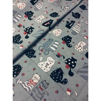 Подростковое постельное белье ранфорс Кошкин Дом фото 2
