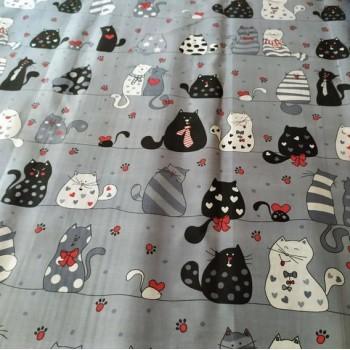 Подростковое постельное белье ранфорс Кошкин Дом фото 3