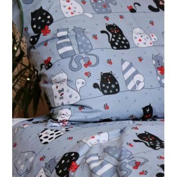 Подростковое постельное белье ранфорс Кошкин Дом фото 4