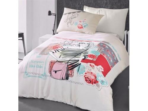 Детское постельное белье для девочки ранфорс Модница R4035 от TAG tekstil в интернет-магазине PannaTeks