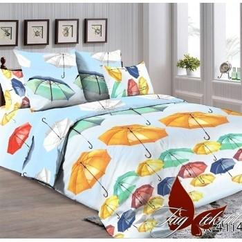 Подростковое постельное белье ранфорс Разноцветные Зонтики