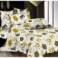 Подростковое постельное белье ранфорс Смешные Котики
