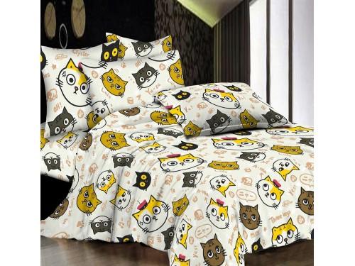 Подростковое постельное белье ранфорс Смешные Котики R4121 от TAG tekstil в интернет-магазине PannaTeks