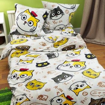 Подростковое постельное белье ранфорс Смешные Котики фото 2