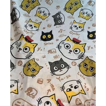 Подростковое постельное белье ранфорс Смешные Котики фото 1