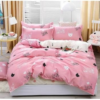 Подростковое постельное белье ранфорс Розовые Котики