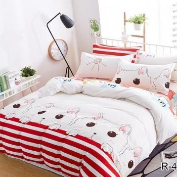 Постельное белье для девочки подростка Кошки R4144 от TAG tekstil в интернет-магазине PannaTeks