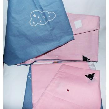 Детское постельное белье для девочки ранфорс Облака фото 1