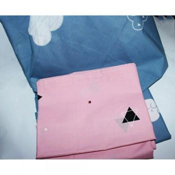 Детское постельное белье для девочки ранфорс Облака фото 2