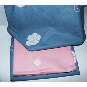 Детское постельное белье для девочки ранфорс Облака фото 3