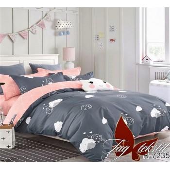 Подростковое постельное белье ранфорс Тучки на Сером