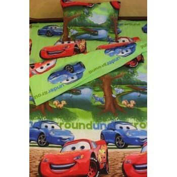 Детское постельное белье для мальчика ранфорс Веселые Тачки фото 2