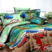 Детское постельное белье для мальчика ранфорс Веселые Тачки