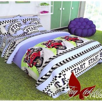Подростковое постельное белье ранфорс для мальчика Гонка R7408 от TAG tekstil в интернет-магазине PannaTeks