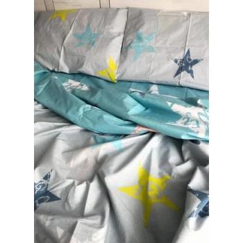 Подростковое постельное белье ранфорс Звезды с Буквами фото 1