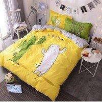 Подростковое постельное белье ранфорс Кактус