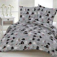 Подростковое постельное белье ранфорс Кошкин Дом