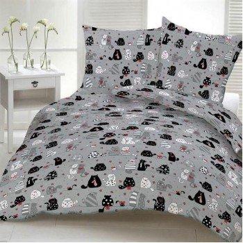 Подростковое постельное белье ранфорс Кошкин Дом 0944 от TAG tekstil в интернет-магазине PannaTeks
