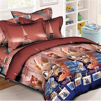 Детское постельное белье ранфорс Зверополис 0946 от TAG tekstil в интернет-магазине PannaTeks