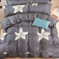 Подростковое постельное белье ранфорс Серые Звезды
