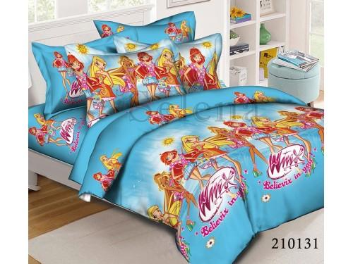 Детское постельное белье ранфорс Winx Blue 210131 от Selena в интернет-магазине PannaTeks