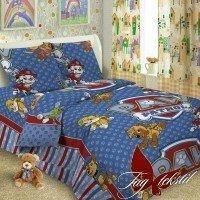 Детское постельное белье поплин Щенячий патруль