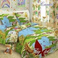 Детское постельное белье поплин Слоник