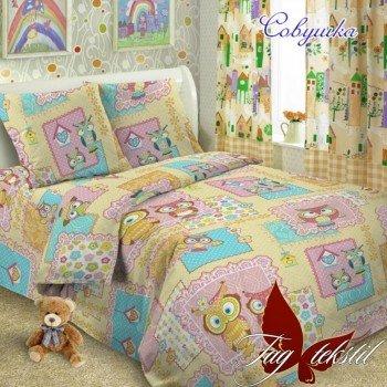Детское постельное белье для девочки ранфорс Совушка