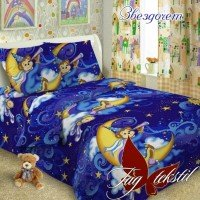 Детское постельное белье поплин Звездочет