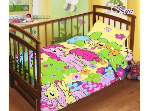 """Постельное белье в кроватку поплин """"Пони"""" Пони от TAG tekstil в интернет-магазине PannaTeks"""