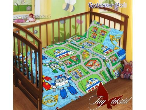 Детское постельное белье в кроватку поплин Robocar Poli Robocar Poli от TAG tekstil в интернет-магазине PannaTeks