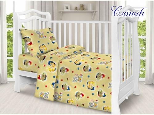 Детское постельное белье в кроватку поплин Слоник Слоник от TAG tekstil в интернет-магазине PannaTeks