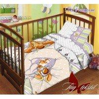 Детское постельное белье в кроватку поплин Пес в пижаме