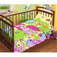 Детское постельное белье в кроватку поплин Пони