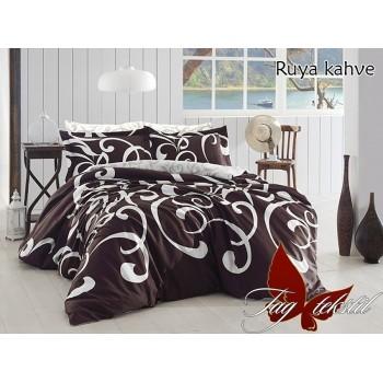 Постельное белье ранфорс с компаньоном Ruya kahve