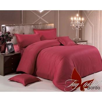 Постельное белье из страйп - сатина Bordo stripe-002 от TAG tekstil в интернет-магазине PannaTeks