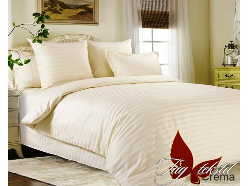 Постельное белье из страйп - сатина Crema Crema от TAG tekstil в интернет-магазине PannaTeks