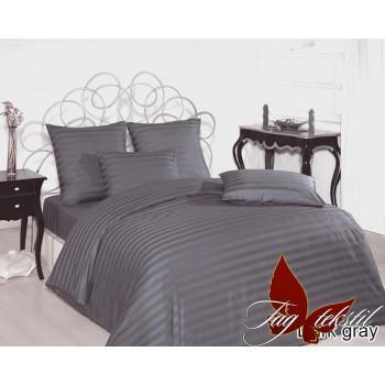 Постельное белье из страйп - сатина Dark gray stripe-011 от TAG tekstil в интернет-магазине PannaTeks