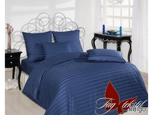 Постельное белье из страйп - сатина Indigo stripe-012 от TAG tekstil в интернет-магазине PannaTeks