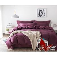 Постельное белье из страйп - сатина  Mauve Wine