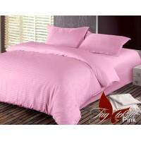 Постельное белье из страйп - сатина Pink