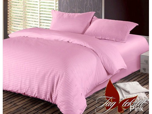 Постельное белье из страйп - сатина Pink stripe-006 от TAG tekstil в интернет-магазине PannaTeks