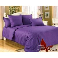 Постельное белье из страйп - сатина Violet