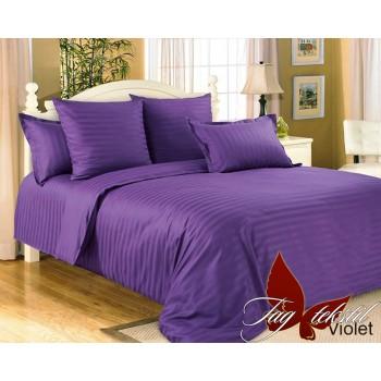Постельное белье из страйп - сатина Violet stripe-014 от TAG tekstil в интернет-магазине PannaTeks